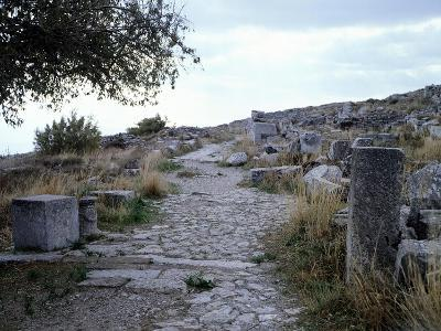 The Sacred Road in Ancient Thera, Santorini, Greece