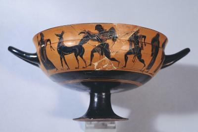 Cup Depicting a Winged Demon, Pandarus and Dog