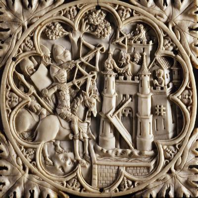 Mirror Box Valve Depicting Tournament, Ca 1380