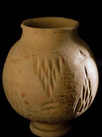 Terracotta Vase with Engravings