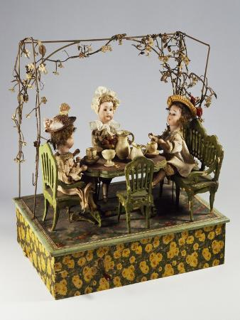 Dolls' Tea Party, Music Box, Germany, Late 19th Century