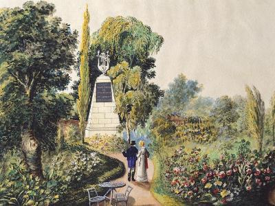 A View of Baumscher Garden in Vienna, Austria 19th Century