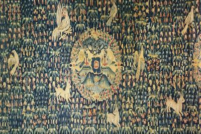 16th Flemish Tapestry known as Millefiori, Kept in the Langeais Castle, Loire, France