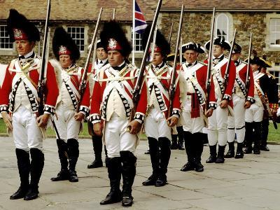 English Reccoats, 1776, as Deployed in American War of Independence, Historical Re-Enactment