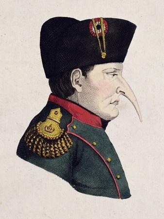 Untitled Cartoon of Napoleon's Right Profile