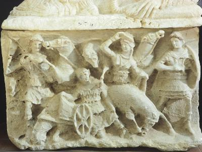 Cinerary Urn with the Sacrifice of Ippolito, Son of Theseus