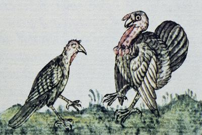 Artwork Depicting a Pair of Turkeys