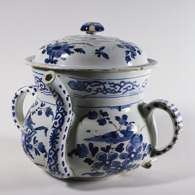 Delftware Posset Pot with Lid, Ca 1730