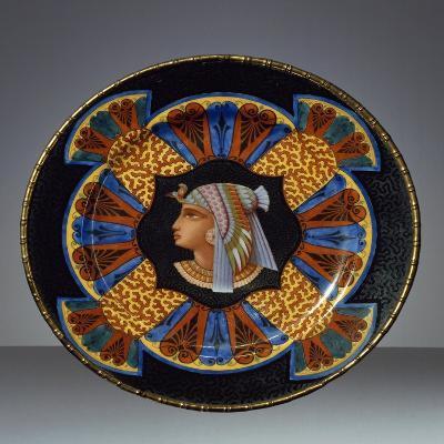 Dessert Plate, Neo-Egyptian Style, Porcelain, France, 1867