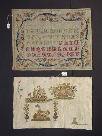 Cross-Stitch Embroidery on Thin Hemp Cloth