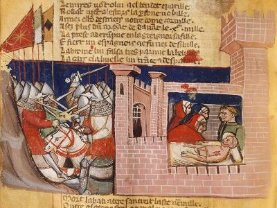Battle Raging Outside a Fortress While Inside They Try to Treat the Wounded