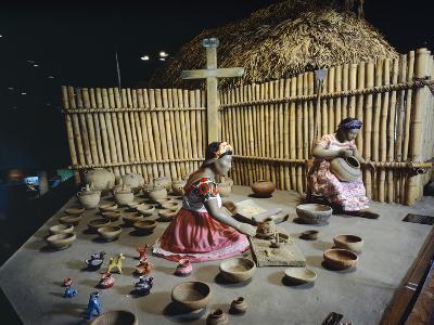 Huasteche Women Working on Nahua Pottery, Mexico
