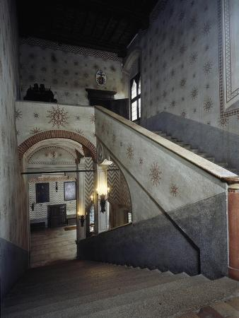 Italy, Sant Angelo Lodigiano, Morando Bolognini Castle, Main Staircase Accessing Hall of Knights