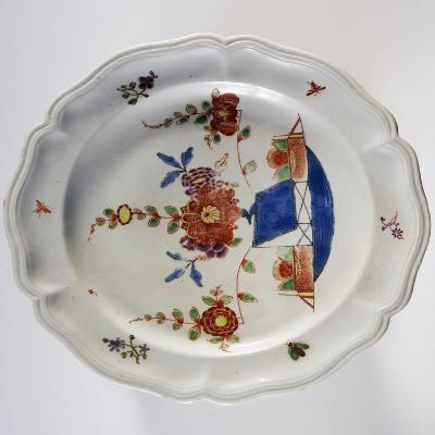 Dessert Plate with Tischen Munster Decorations in Oriental Style