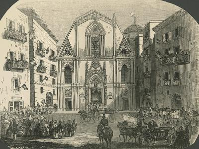 The Cathedral of Naples on the Occasion of the Proclamation of the King of Italy