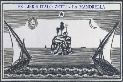 Bookplate Depicting Two Sailing Boats