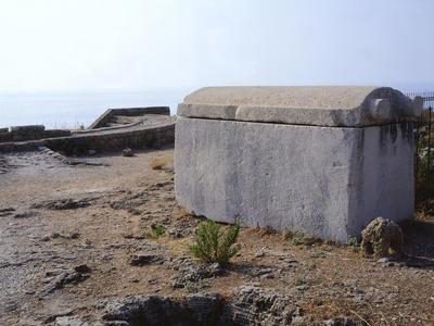 Lebanon, Byblos, Sarcophagus at Royal Necropolis