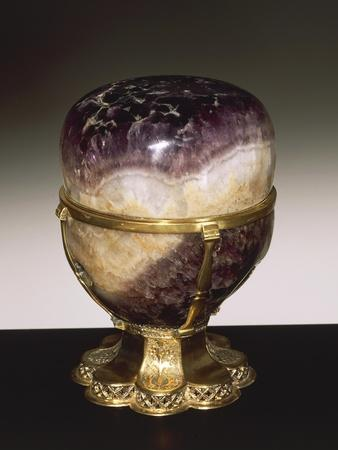 Amethyst Vase With Lid Gilded Silver Setting Giclee Print At