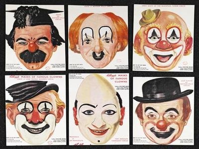 Masks of Famous Clowns, Kellogg Company of Great Britain
