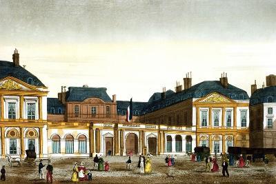 The Royal Palace, Paris, France Engraving