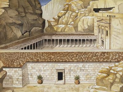 Reconstruction of Roman Soldier's Tomb at Petra