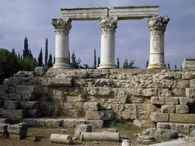 Remains of Temple Attributed to Octavia, Corinth, Greece