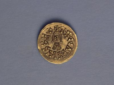 Gold Triens of Reccared I, King of Visigoths, Recto, Visigothic Coins, 6th-7th Century