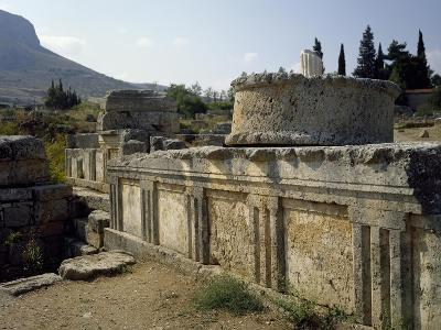 The Sacred Spring and Triglyph Wall, Corinth, Greece