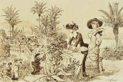Ladies Strolling in Montecarlo Monaco