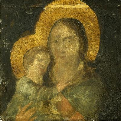 Madonna, Painting on Stone