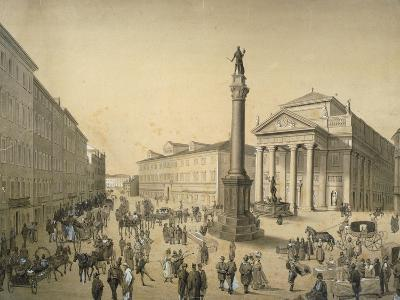 Italy, Trieste, Stock Exchange Square, 1830 Painting
