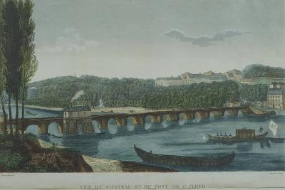 The Bridge and Castle at Saint-Cloud, France 19th Century