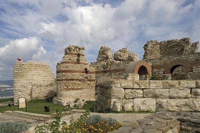 Bulgaria, Black Sea, Nessebar, Ruins of City Walls at St Stephen's Church