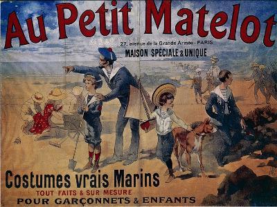 Au Petit Matelot, Advertising for Children's Swimwear, Poster