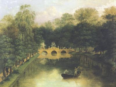 Lazienki Park, Warsaw, Poland 19th Century