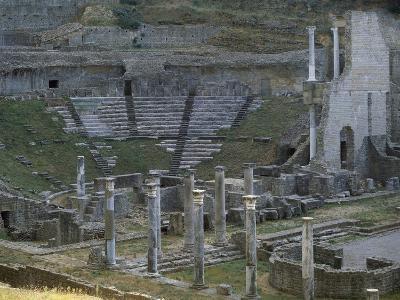 View of Roman Theatre in Volterra, Italy Roman Civilization, Volterra, Italy