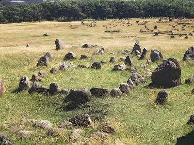 Denmark, North Jutland, Near Aalborg, Lindholm Hoje, Viking Burial