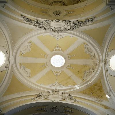 Detail of Chapel Ceiling, Royal Hunting Lodge, Persano, Serre, Campania, Italy