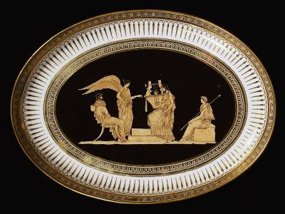 Tray from Breakfast Service with Etruscan-Style Decorations, Ceramic