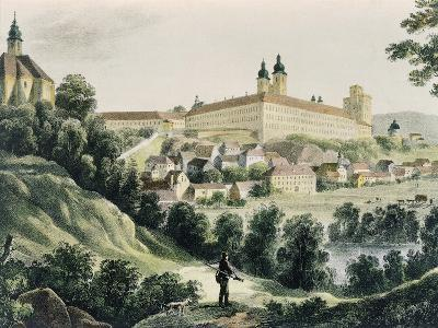 View of Krems Monastery, Etching, Italy