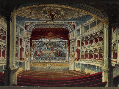 Germany, Dresden, Interior of Royal Theatre