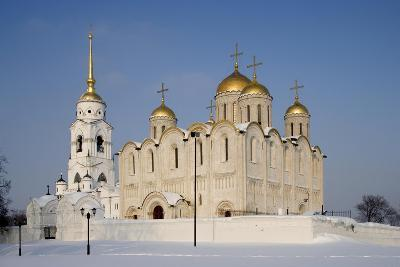 Russia, Golden Ring, Vladimir, Belltower and Assumption Cathedral