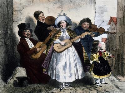 Street Singers, 1845, France