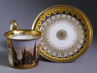 Cup Depicting St Stephen's Cathedral, and Saucer