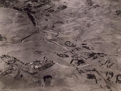 Aerial View of Dessie, 1935, Ethiopian War, Ethiopia