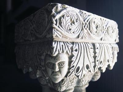 Marble Capital, Collegiate Church of St Mary, Visso, Marche, Italy