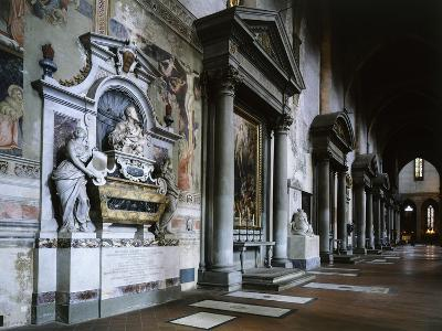 The Left Aisle, with an 18th Century Monument to Galileo Galilei, Basilica of Santa Croce, Italy