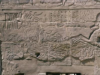 East Outer Wall, Relief Depicting Campaign of Seti I in Palestine