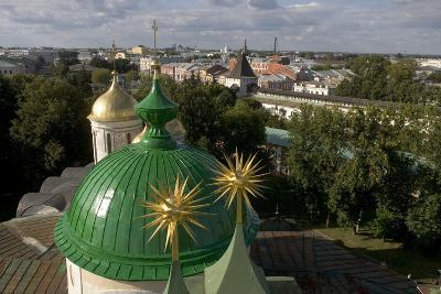 Russia, Yaroslavl, Cathedral at Monastery of Transfiguration of Savior