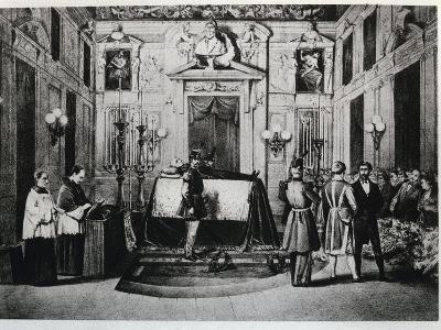 Body of Alessandro Manzoni in Mortuary Chapel at Palazzo Marino, 1873